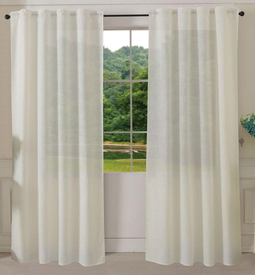 vorhang schal schlaufen linene blickdicht leinen optik grobfaser 245x140 204452 ebay. Black Bedroom Furniture Sets. Home Design Ideas