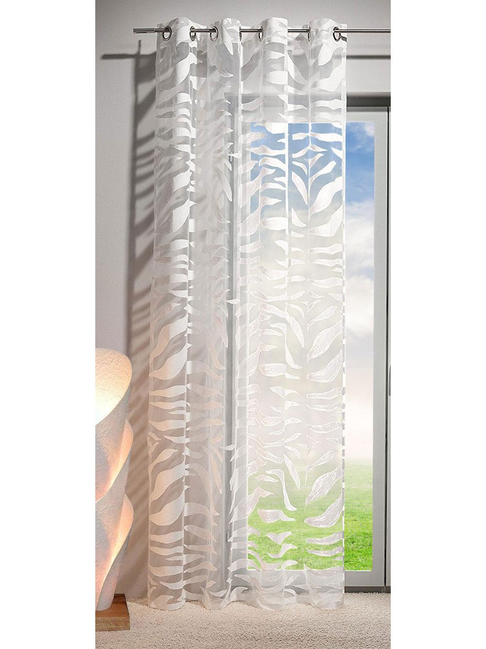 gardine vorhang zebra sen ausbrenner transparent 245x140 cm zebra ebay. Black Bedroom Furniture Sets. Home Design Ideas