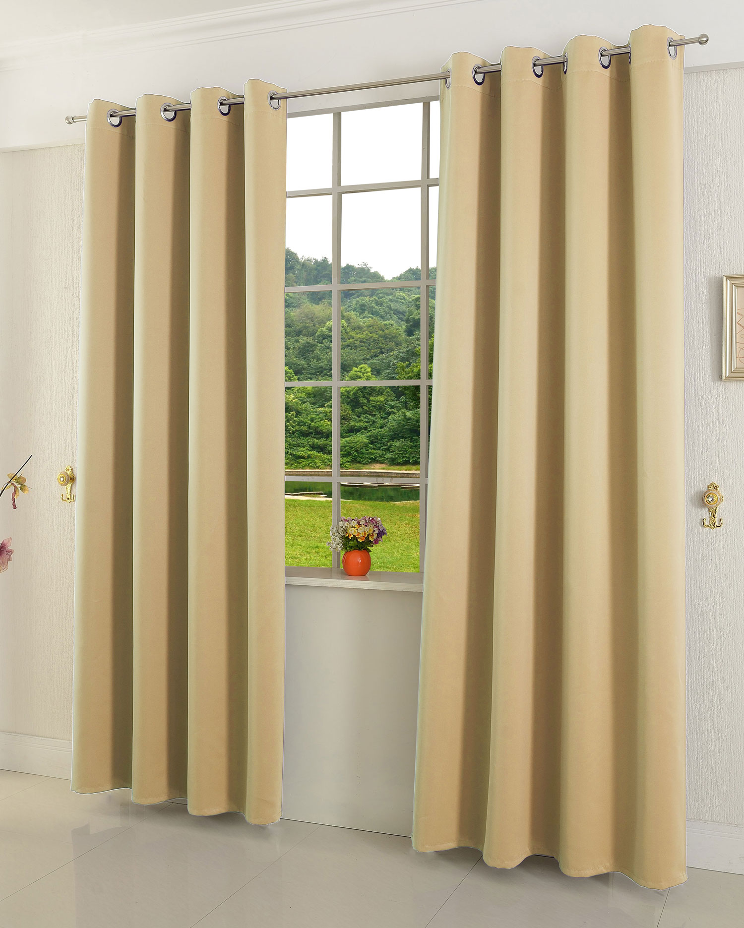 verdunklungsgardine blickdicht thermo verdunklungsvorhang blackout 206000 ebay. Black Bedroom Furniture Sets. Home Design Ideas