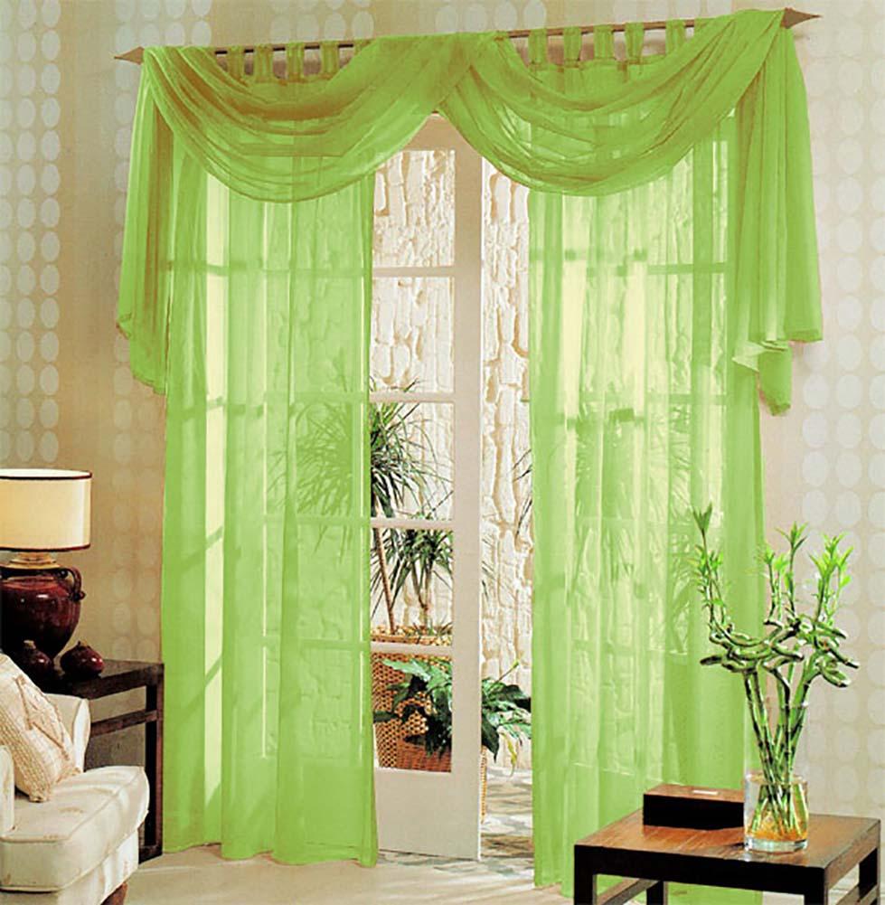 Voile komplett gardinen set 3tlg 60999 ebay for Gardinen set schlafzimmer