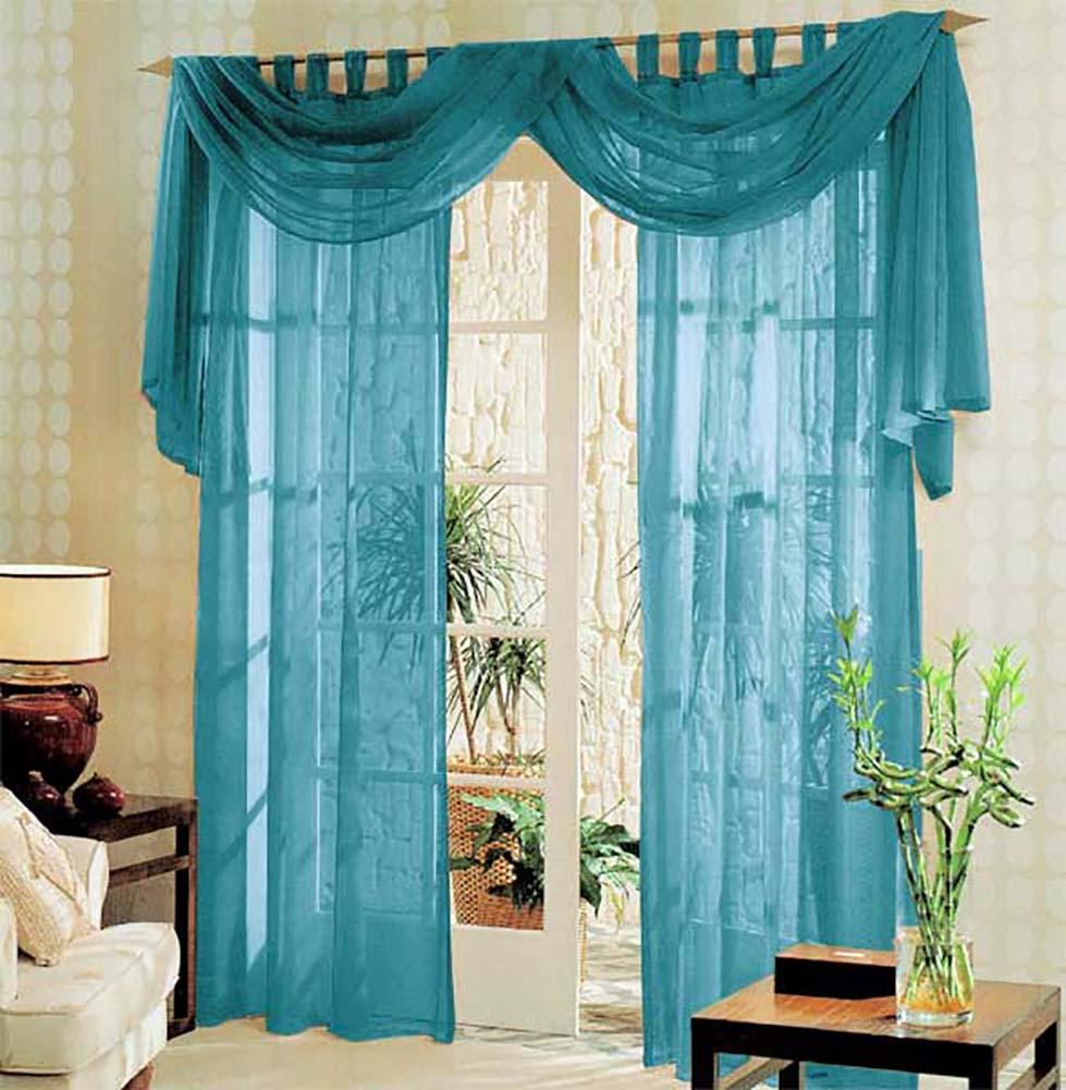 voile komplett gardinen set 3tlg 60999 ebay. Black Bedroom Furniture Sets. Home Design Ideas
