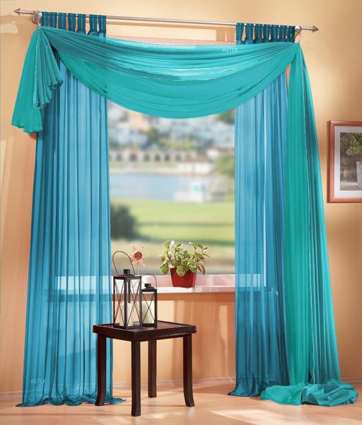 3er set gardinen uni und freihanddeko farben 2 ebay. Black Bedroom Furniture Sets. Home Design Ideas