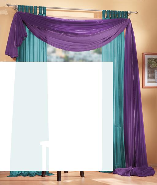3er set gardinen uni und freihanddeko farben 1 ebay - Gardine kinderzimmer transparent ...