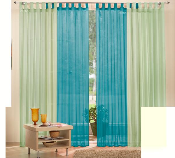 set 4 teile gardine unifarben transparent farben 2 ebay. Black Bedroom Furniture Sets. Home Design Ideas