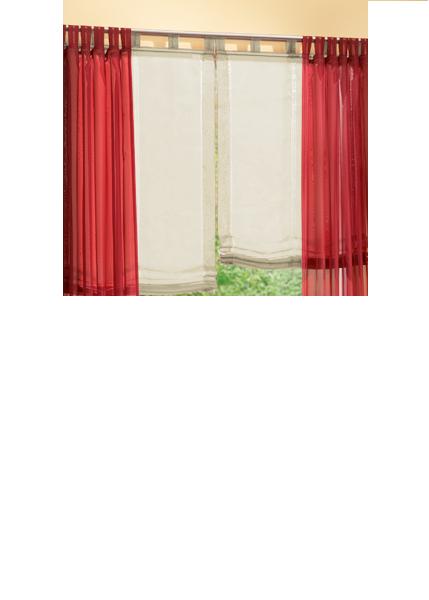 set 4 teile gardine voile und raffrollo farben 4 ebay. Black Bedroom Furniture Sets. Home Design Ideas