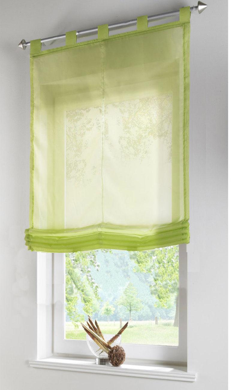 Raffrollo transparent UNI aus Voile mit Schlaufen -610070- | eBay