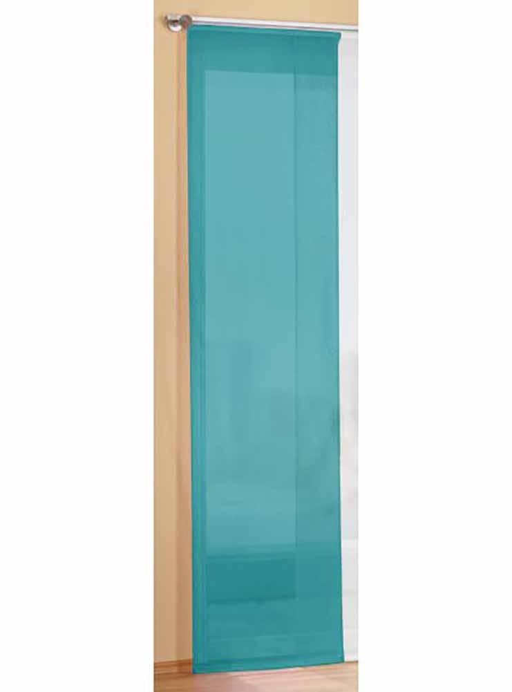 fl chenvorhang schiebegardine mit zubeh r 245x60 t rkis. Black Bedroom Furniture Sets. Home Design Ideas