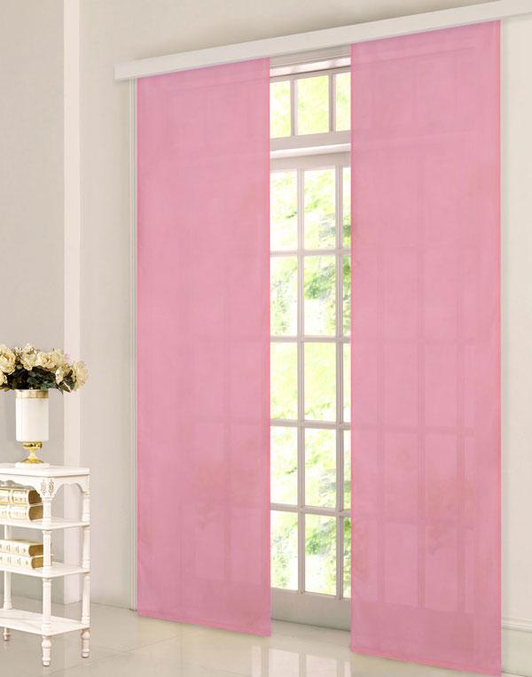 schiebevorhang fl chenvorhang mikrofaser blickdicht matt 245x60 pink ebay. Black Bedroom Furniture Sets. Home Design Ideas