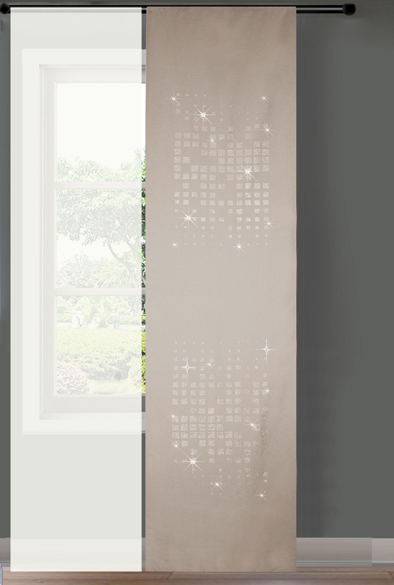 Luxus Schiebegardinen Schwarz Design
