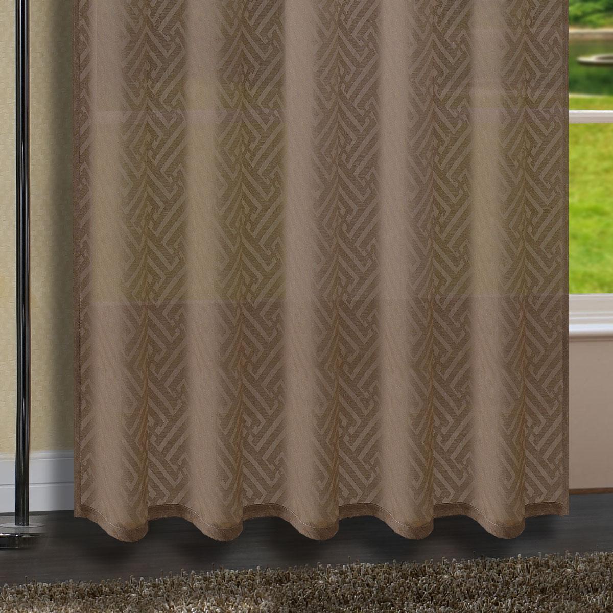 Gardine Vorhang Blackyard Verdeckte Schlaufen Ausbrenner 235x140 Cm