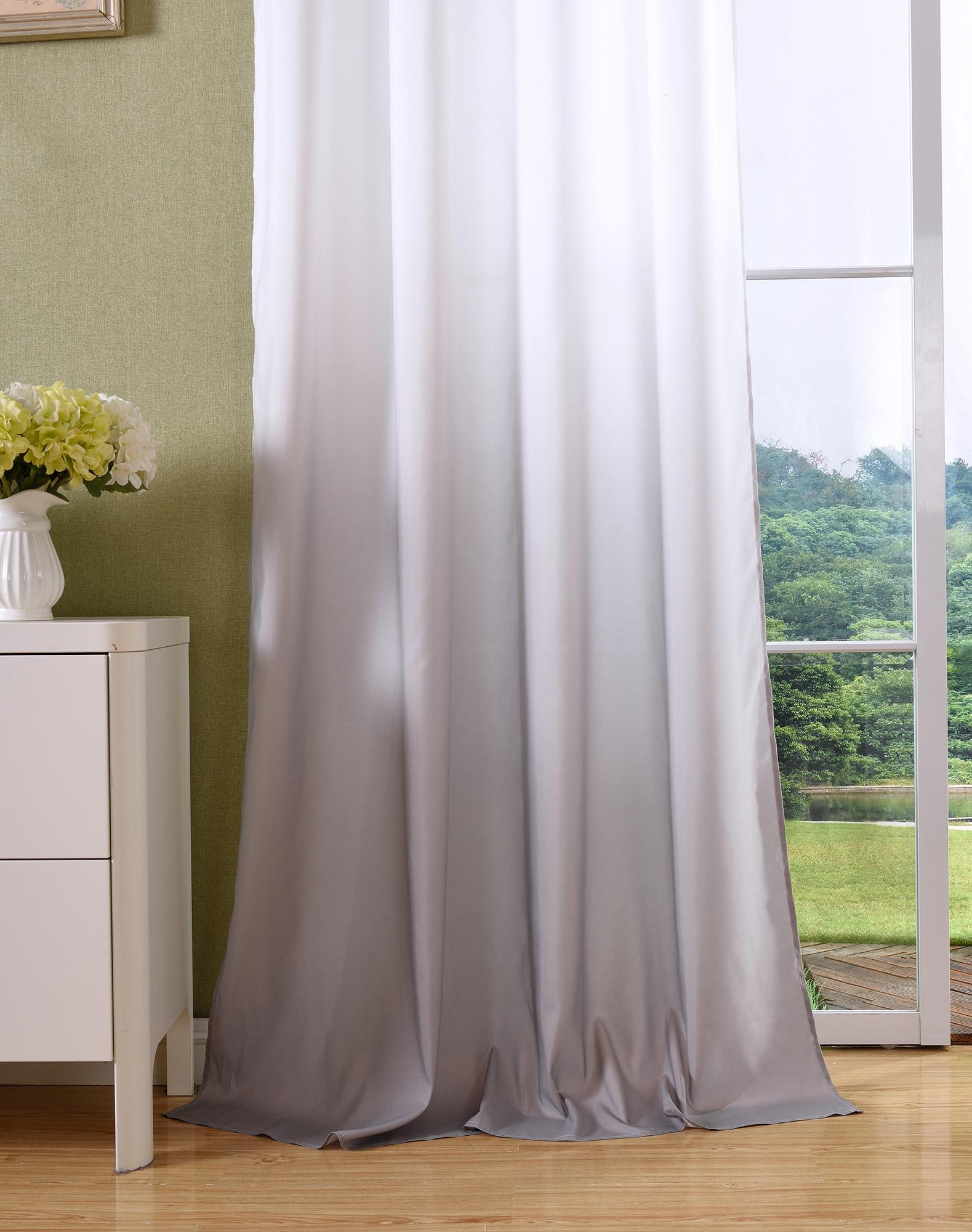 vorhang blickdicht schal sen gardine microsatin farbverlauf ebay. Black Bedroom Furniture Sets. Home Design Ideas