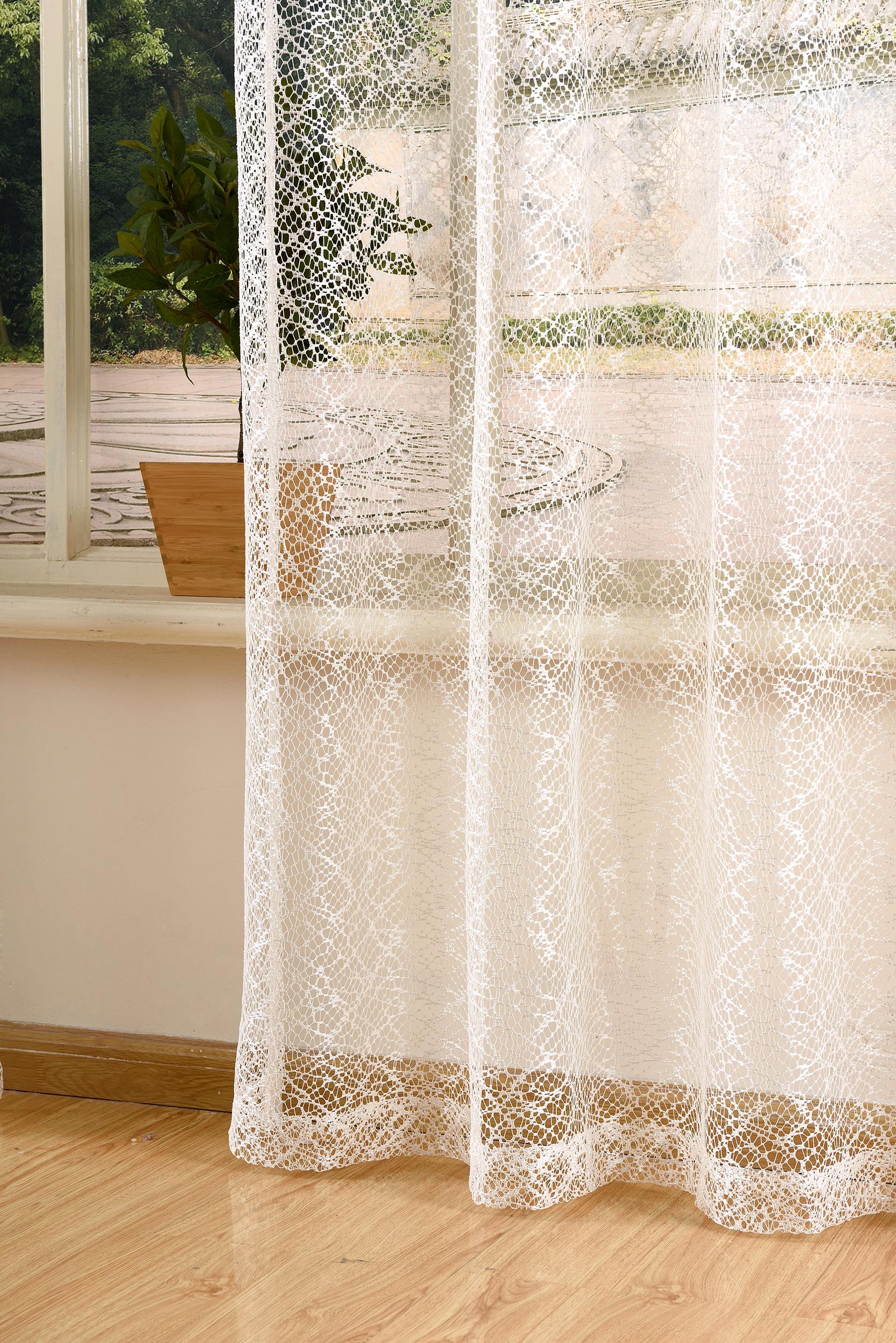 gardine netz struktur mit sen einfarbig transparent 1 st ck 245x140 natur 4041984826848 ebay. Black Bedroom Furniture Sets. Home Design Ideas