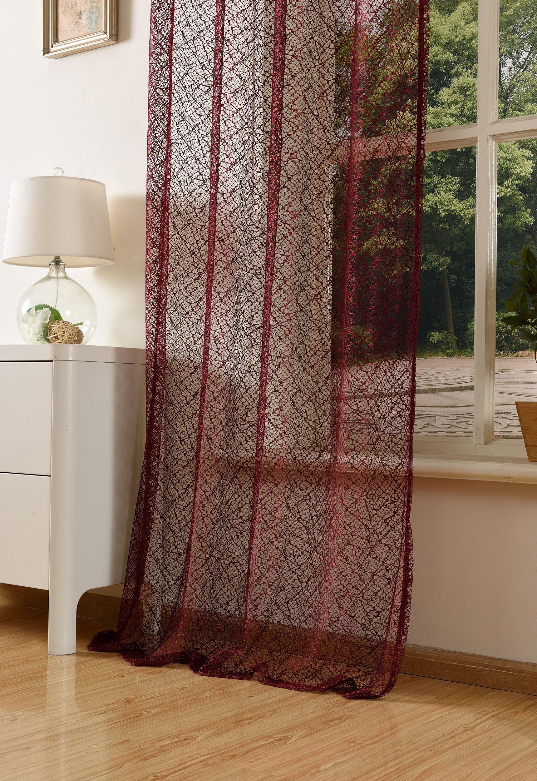 gardine netz struktur mit sen einfarbig transparent 1 st ck 245x140 bordeaux 4041984826787 ebay. Black Bedroom Furniture Sets. Home Design Ideas