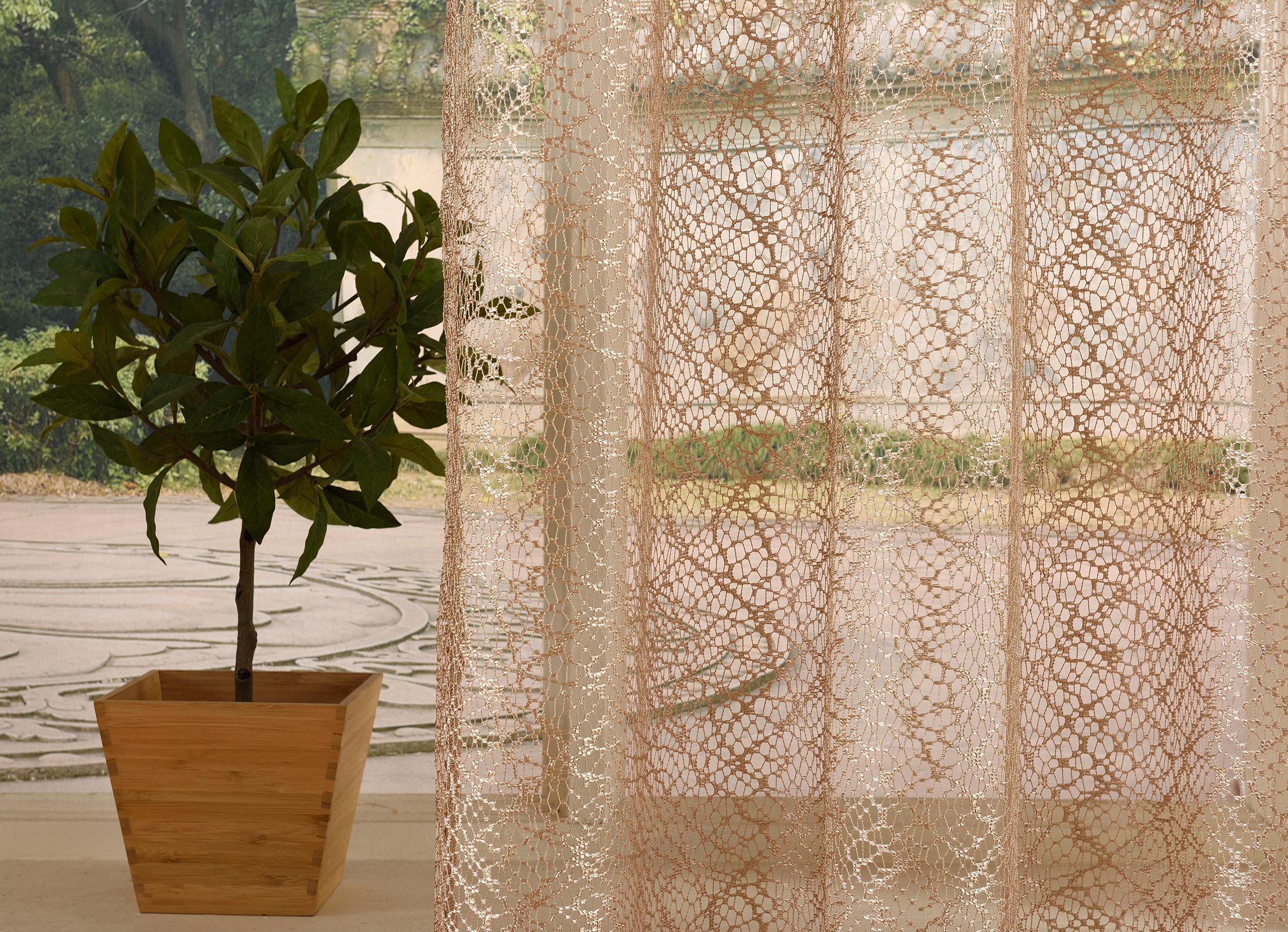 gardine netz struktur mit sen einfarbig transparent 1 st ck 245x140 taupe 4041984826800 ebay. Black Bedroom Furniture Sets. Home Design Ideas