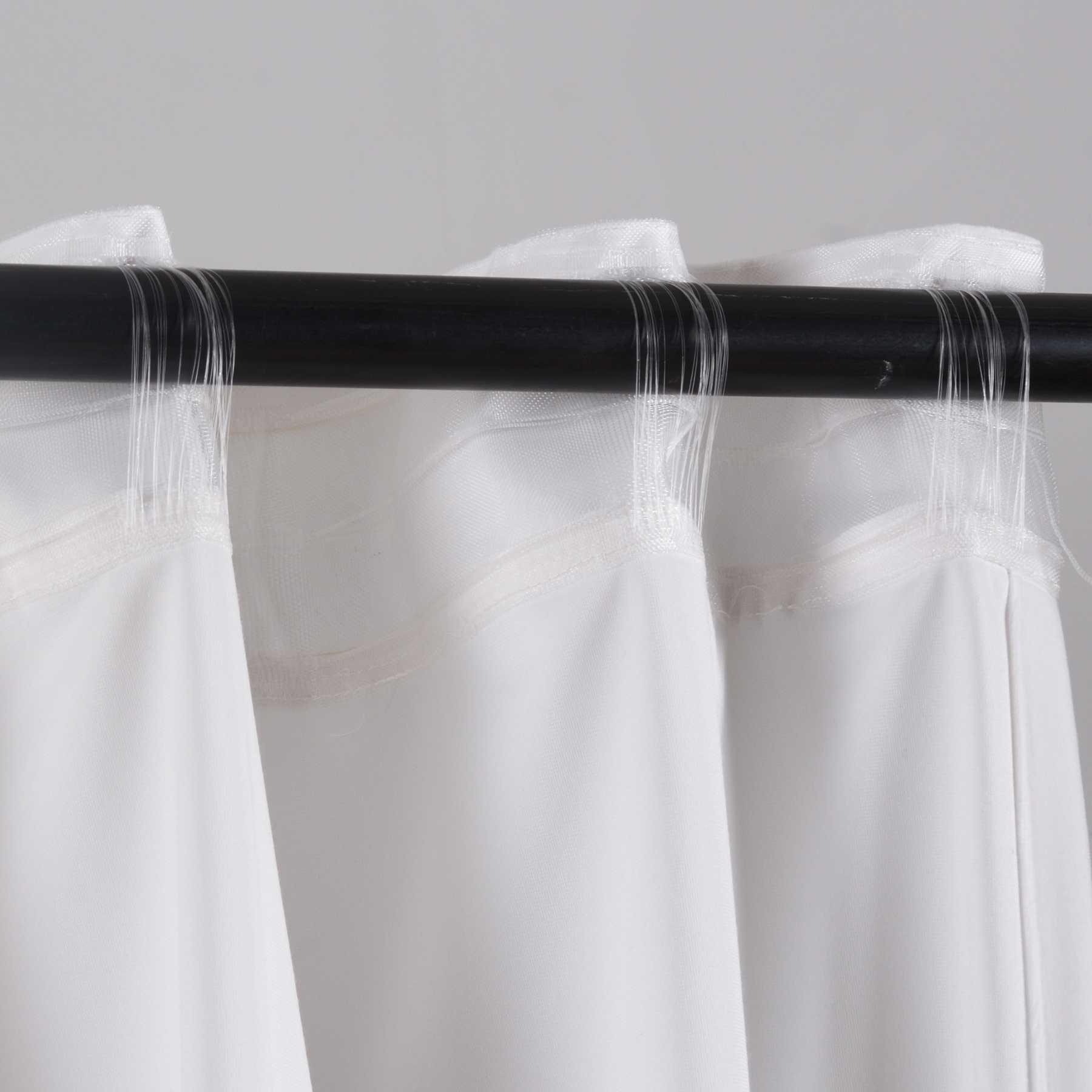 Verdunkelung Vorhang Milano Samt Schlaufenband Weiß 1 Stück HxB 280x135 cm