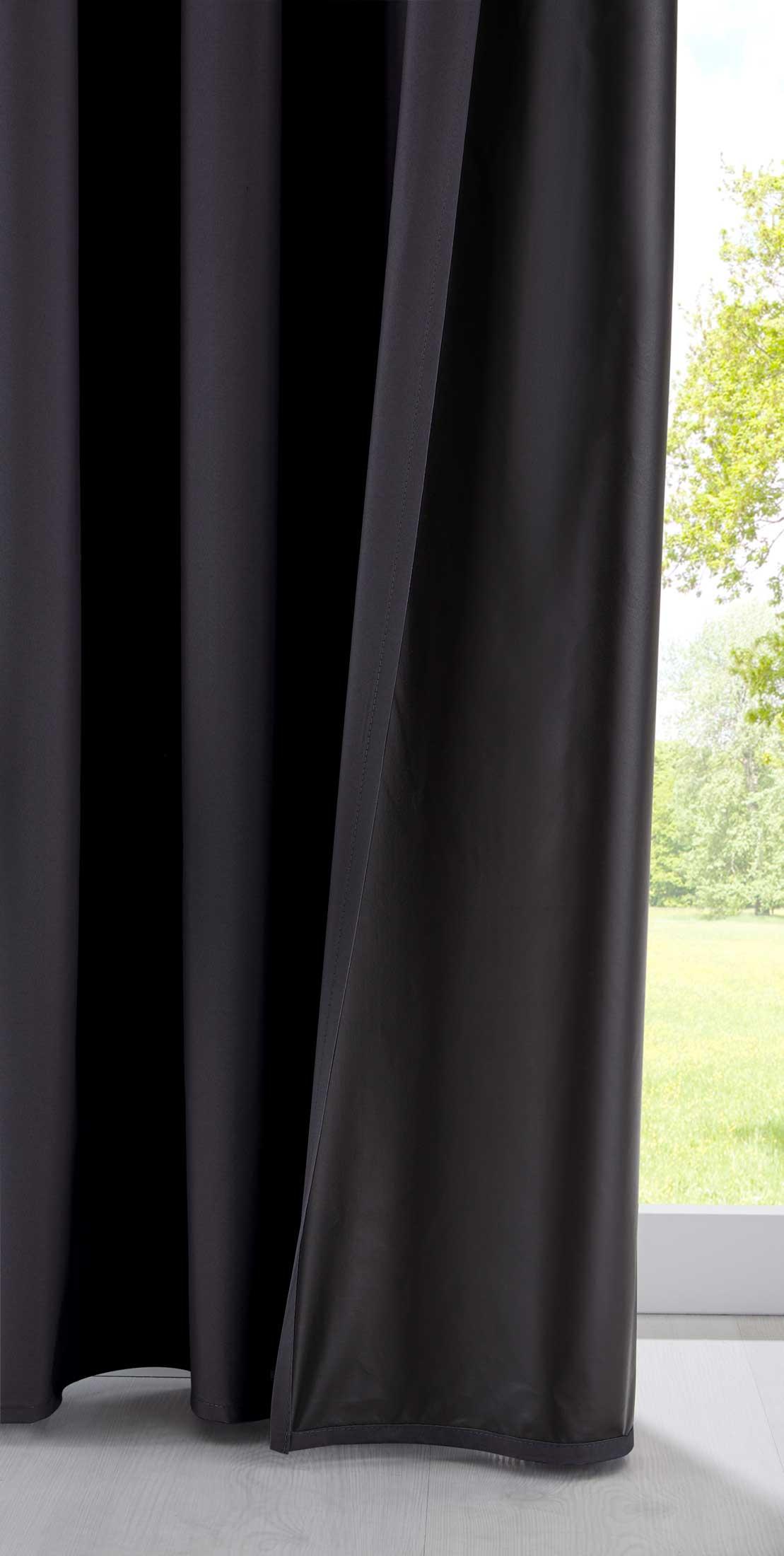 Verdunkelungsvorhang »DARK« 100/% Dunkel Reisevorhang Tasche Gardinenband
